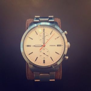 Fossil Stainless Steel Chronograph Watch. Used